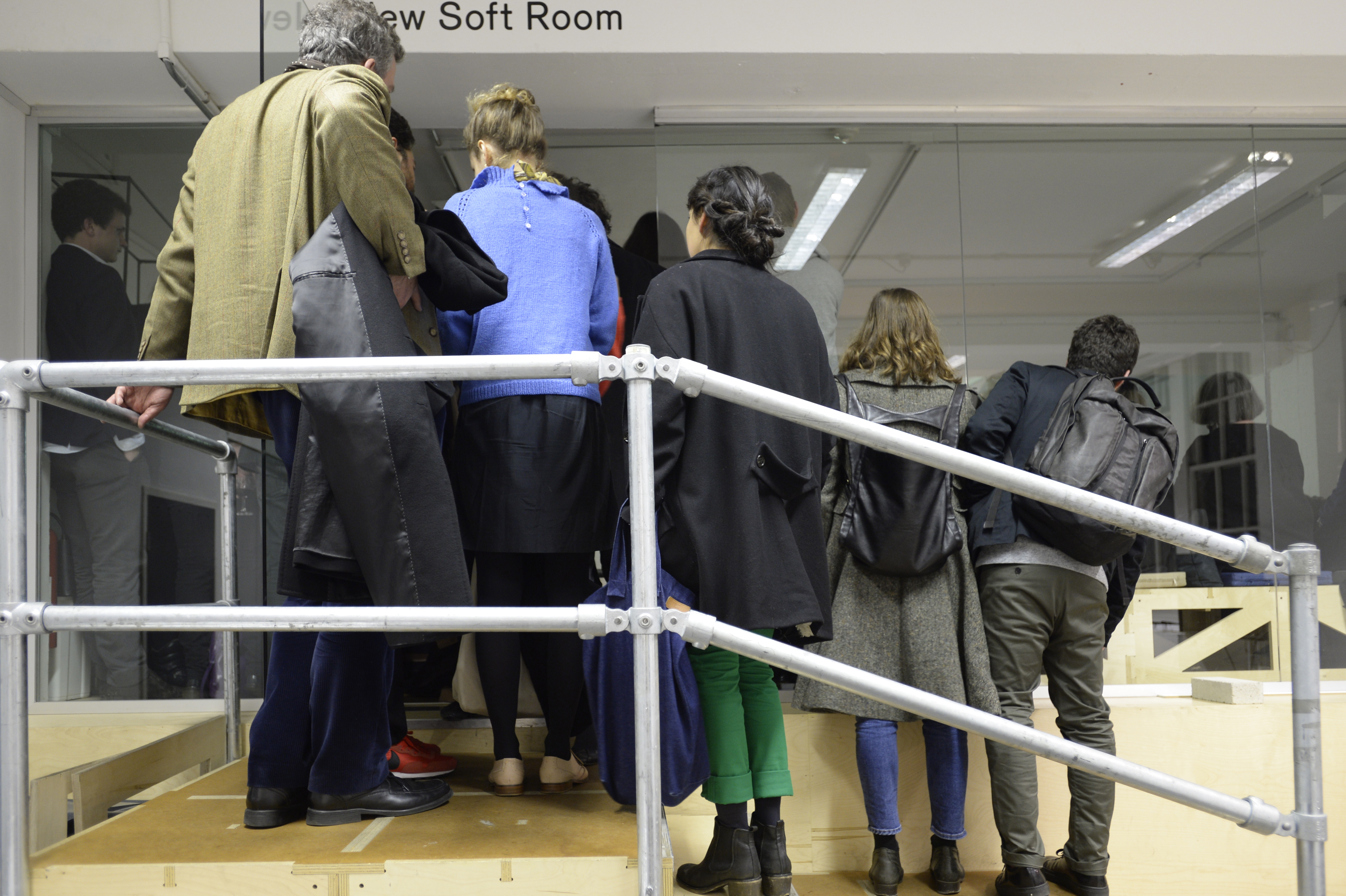 The queue at the entrance to the New Soft Room