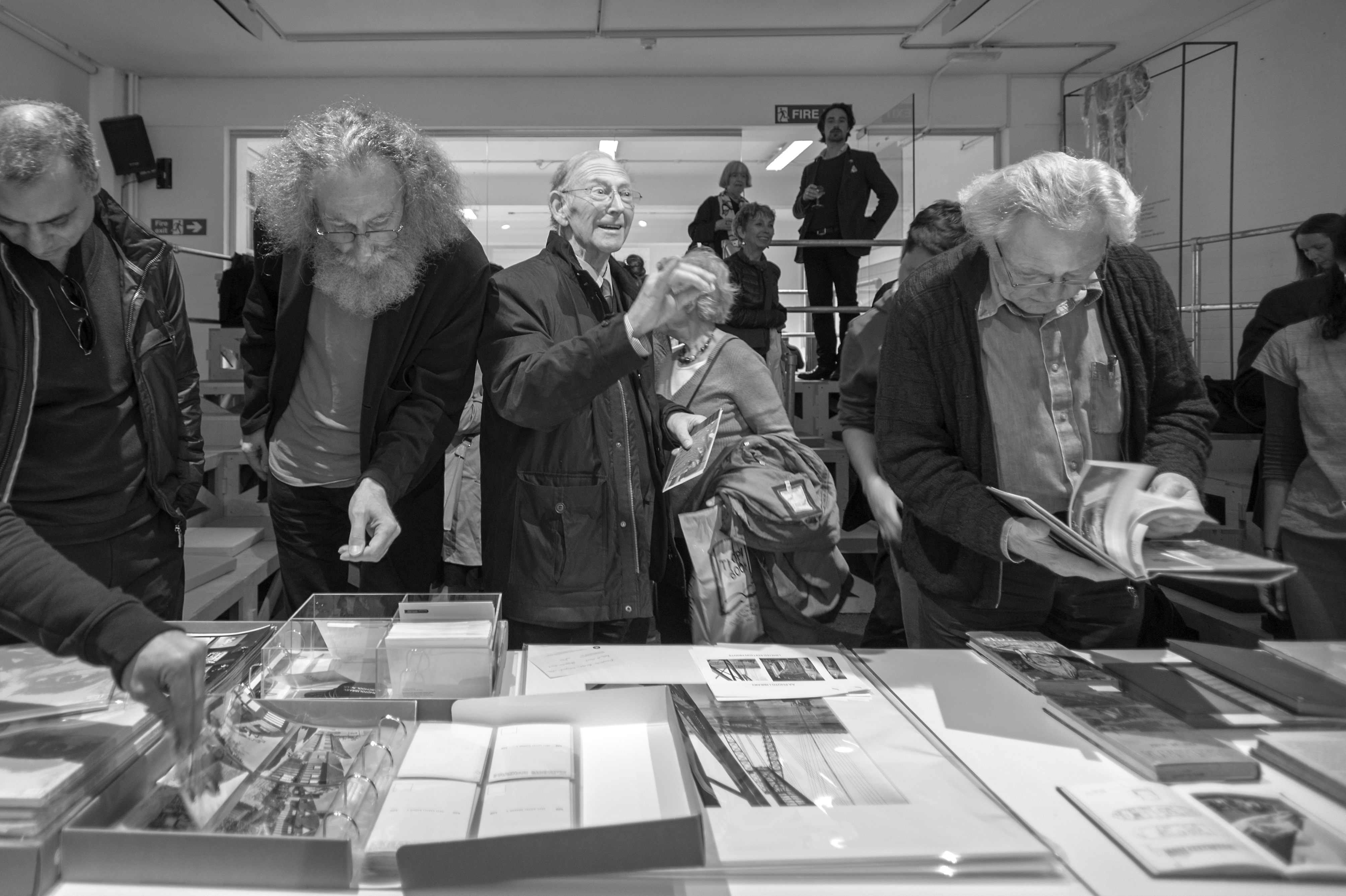 Attendees looking through the AA Archives