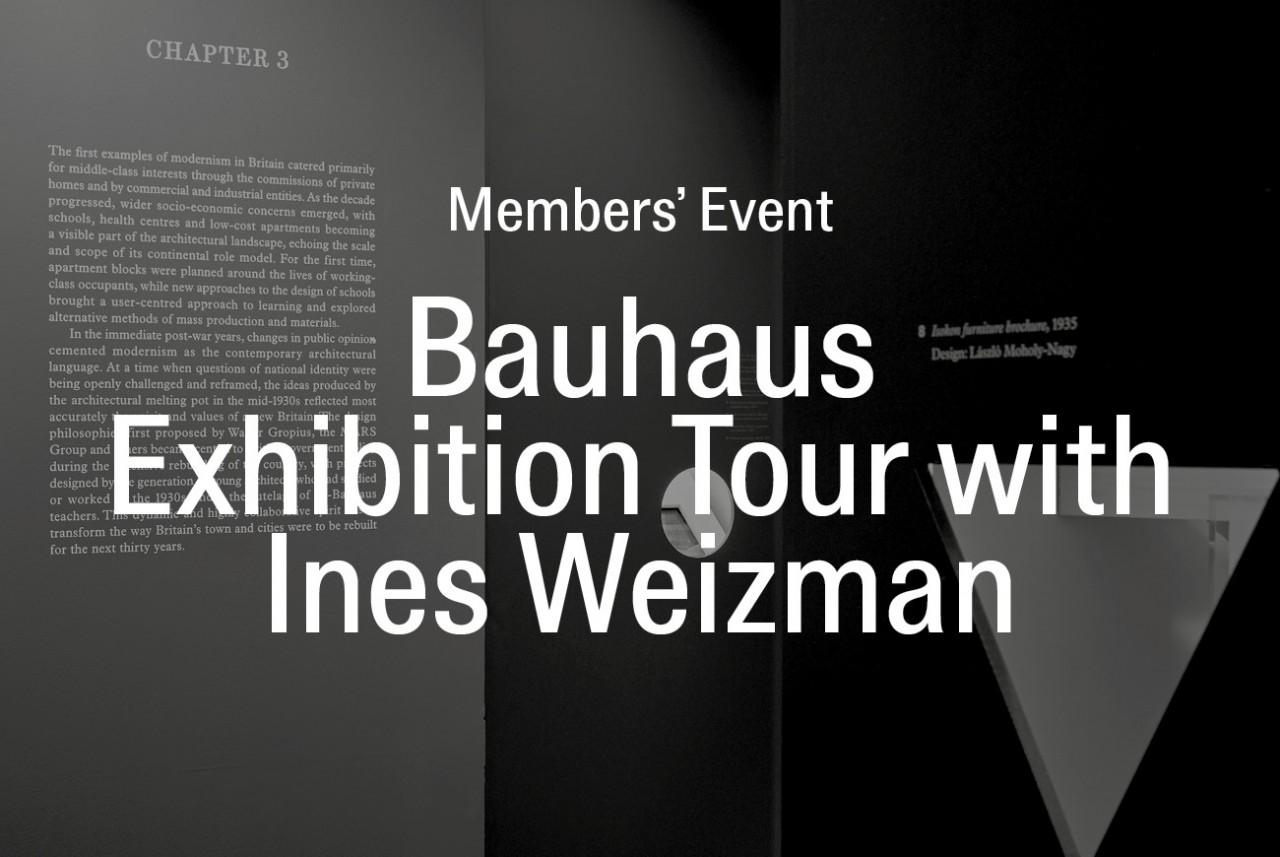Image: RIBA exhibition 'Beyond Bauhaus', Edmund Sumner, 2019
